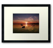 Sunset in Wexford Harbour Ireland  Framed Print