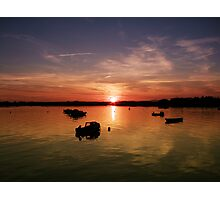 Sunset in Wexford Harbour Ireland  Photographic Print