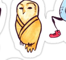 Silly Bird Stickers Sticker