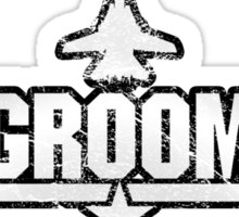 Top Gun Style Bachelor / Stag Party Shirt (Groom) Sticker