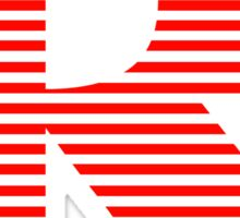 Rated R Stripes Version Sticker