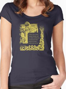 Humpty Dumpty - Through the looking glass Women's Fitted Scoop T-Shirt