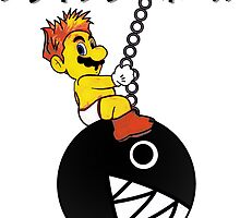 Mario Wrecking Ball (Sticker Version) by Rodrigo Marckezini