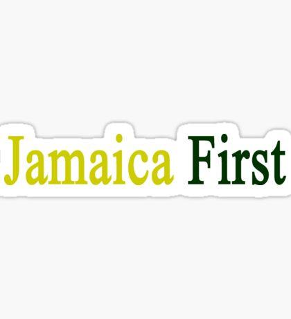 Jamaica First  Sticker