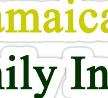 Jamaican Family Inside  Sticker