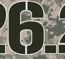 26.2 Oval Sticker - Military Camo Sticker