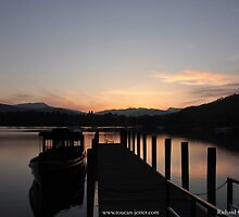 Lake Windermere sunset boats by toucanjester