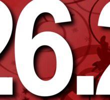 26.2 Fancy Red Oval Sticker Sticker