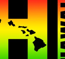 HAWAII Oval Sticker - Surfer Rasta Colors Sticker