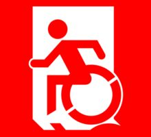 Accessible Means of Egress Icon Emergency Exit Sign, Left Hand Sticker
