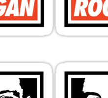 Rogan Stickers (4 Small) Sticker
