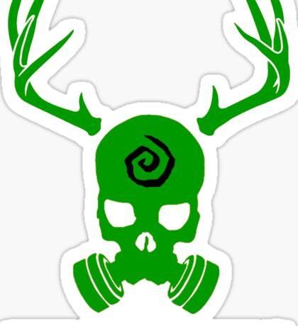 True Detective - Yellow King Gas Mask - Green Sticker