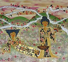 Japanese Sisters ~ tranquility garden by Lisafrancesjudd