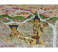 Japanese Sisters ~ tranquility garden Photographic Print