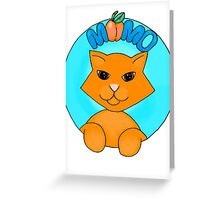 Momo Cat Greeting Card