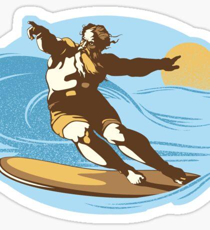 God Surfed Sticker Sticker