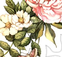 Watercolor vintage floral motifs Sticker