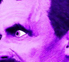 Nietzsche Burst 5 - by Rev. Shakes Sticker