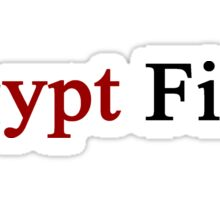Egypt First  Sticker