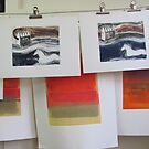 Drying Lines in Studio  by ROSEMARY EAGLE