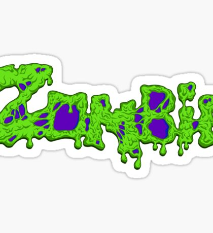 Zombie (Typography) Sticker