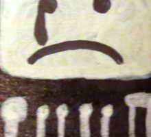 Crying T.V. Sticker