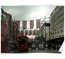 Oxford St before the Diamond Jubilee Weekend Poster