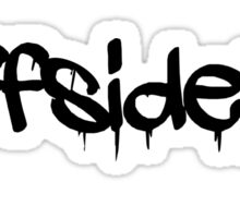 #offsideplay (black) Sticker