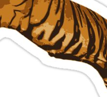 Leaping Wild Tiger Sticker