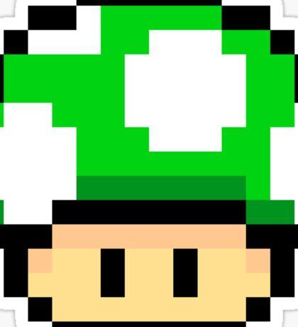 Green Mario Mushroom Sticker