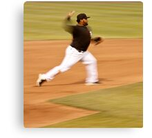 Pablo Sandoval in Motion.. Throwing to First Base Canvas Print