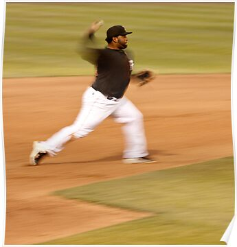 Pablo Sandoval in Motion.. Throwing to First Base by Buckwhite