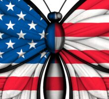 American Flag Butterfly Sticker