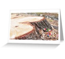 The lumberjack Greeting Card