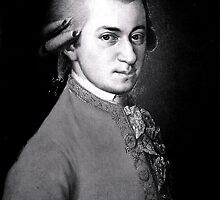 Wolfgang Amadeus Mozart | The Wighte Collection by FreshThreadShop