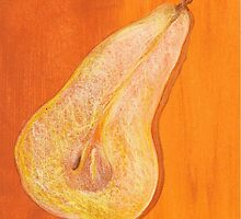 A Pear in Half by Autumn Burns