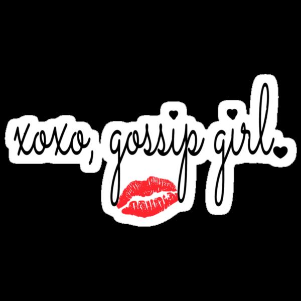 "XOXO, GOSSIP GIRL"" Stickers by Chloe Hebert | Redbubble"
