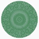 small green chakra mosaic circle girly by offpeaktraveler