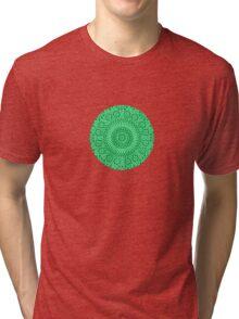 small green chakra mosaic circle girly Tri-blend T-Shirt