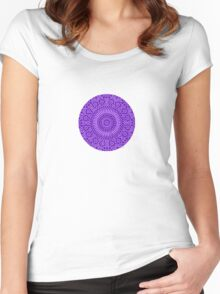 small indigo third eye chakra mosaic circle girly Women's Fitted Scoop T-Shirt