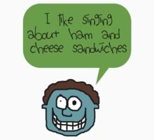 My love for a Ham & Cheese sandwich Kids Tee