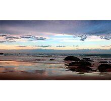 Evening Light on the Beach Photographic Print