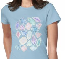 Pastel Watercolor Gems Womens Fitted T-Shirt