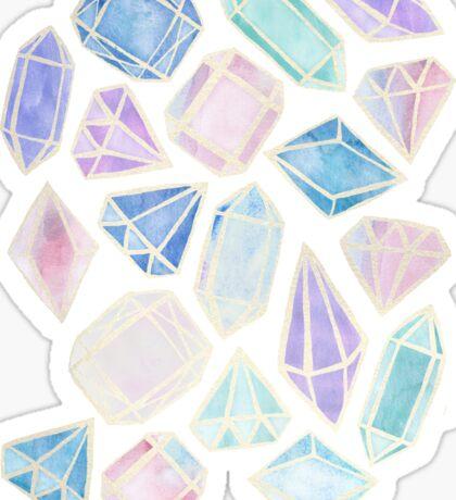 Pastel Watercolor Gems Sticker