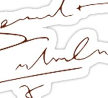 Benedict's Signature.  Sticker
