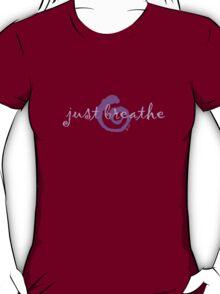 just breathe purple (dark tee) T-Shirt