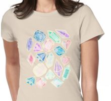 Watercolor Gems Intense Womens Fitted T-Shirt