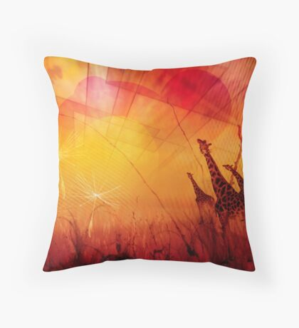 Mourning the Past Throw Pillow