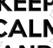 Keep Calm and Carry 2nd Amendment Shirt and Sticker Sticker