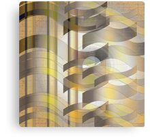 Ribbon Cloth Metal Print